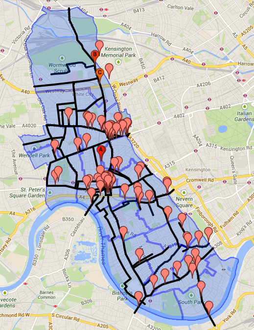 Space4Cycling working map