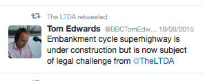 LTDA retweet of Tom Edwards tweet on CSH JR
