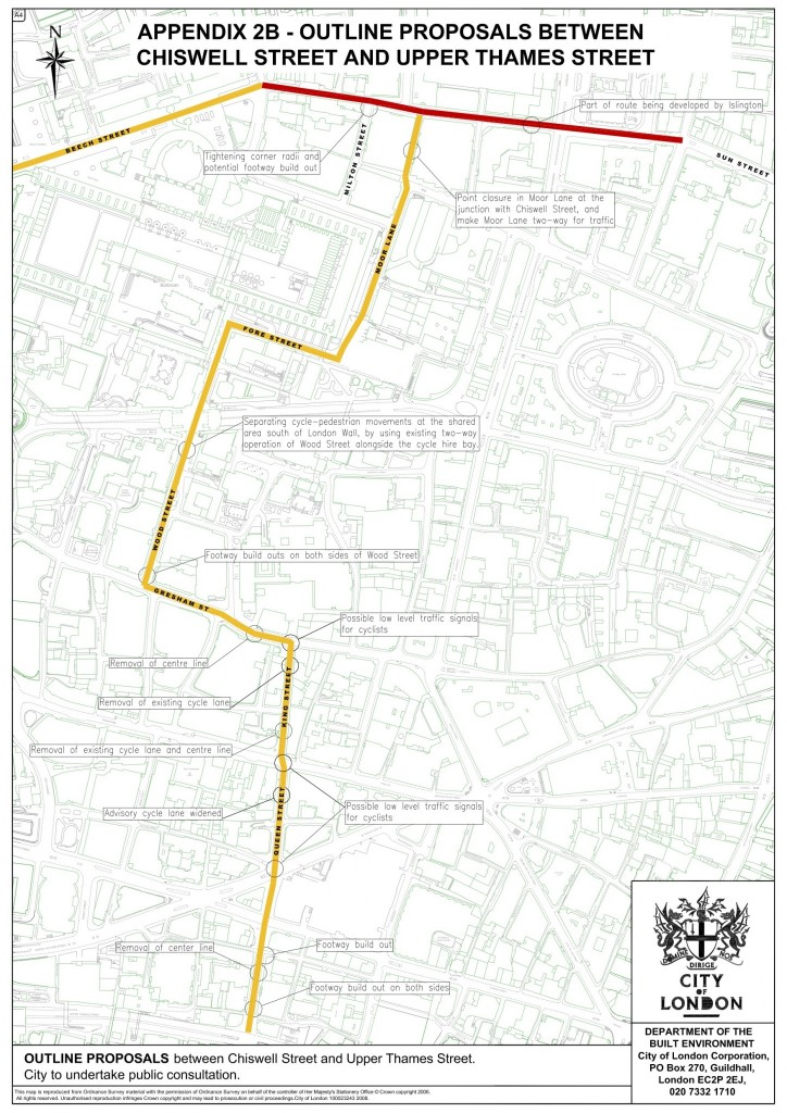 north south quietway proposal - from Gateway 34 Options Appraisal document