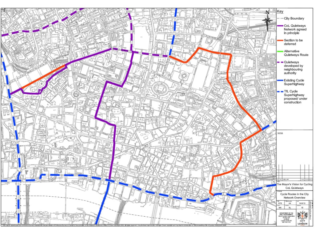 City of London grid routes - slide from presentation